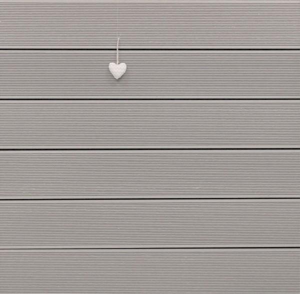 WPC Terrassendielen Hohlkammer, Oberfläche fein gerillt, Farbton hellgrau, 22 x 146 bis 4800 mm für 5,30 €/lfm