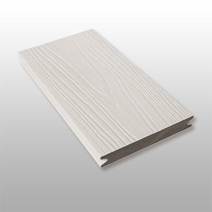 WPC Terrassendielen Artide, ummantelt, massiv, Premium, Oberfläche mit Struktur in Holzoptik, Farbton hellgrau, Vollprofil, 22 x 143 bis 4800 mm für 10,40 €/lfm