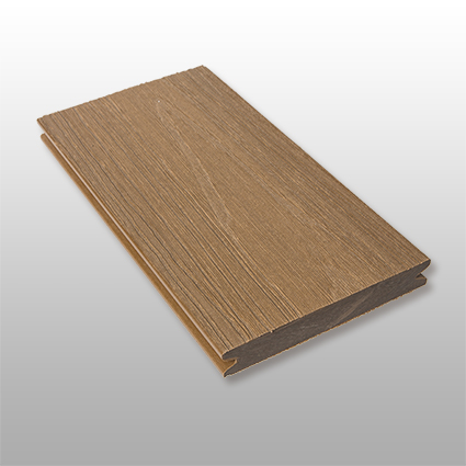 WPC Terrassendielen Terra, massiv, ummantelt, Premium, Oberfläche mit Struktur in Holzoptik, Farbton dunkelbraun, 22 x 143 bis 4800 mm für 10,40 €/lfm