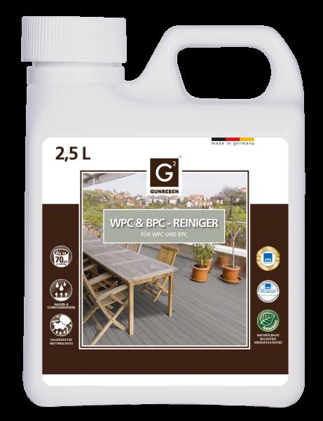 Gunreben WPC Reiniger, Kanister mit 2,5 Liter, ausreichend für ca. 20-40 m²