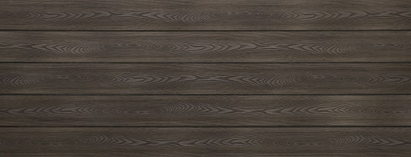 WPC Terrassendielen massiv, Oberfläche mit Struktur in Holzoptik, bicolor im Farbton Thermoesche, Vollprofil, 22 x 143 bis 4800 mm für 8,40 €/lfm
