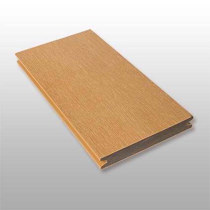 WPC Terrassendielen Deserto, ummantelt, massiv, Premium, Oberfläche gebürstet, Farbton hellbraun, Vollprofil, 22 x 143 bis 4800 mm für 10,40 €/lfm