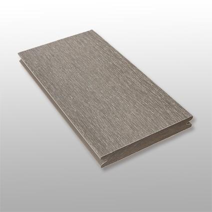 WPC Terrassendielen Tessera, massiv, ummantelt, Premium, Oberfläche gebürstet, Farbton grau, Vollprofil, 22 x 143 bis 4800 mm für 10,40 €/lfm