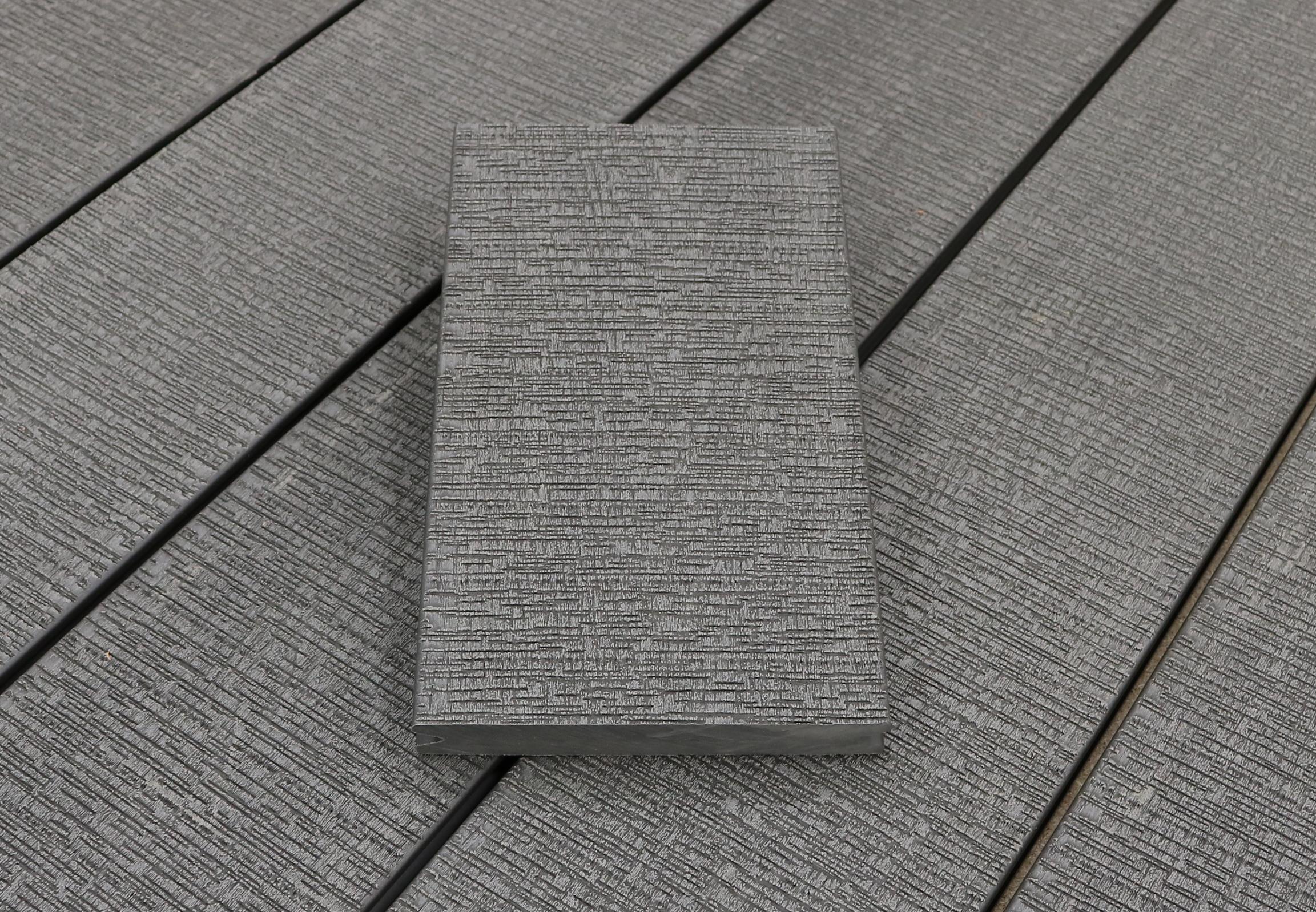 WPC Terrassendielen massiv, sägerau grob im Farbton hellgrau, Vollprofil, 22 x 143 bis 4800 mm für 7,95 €/lfm