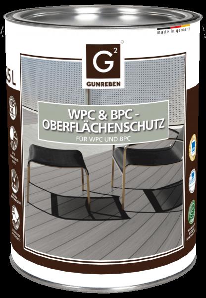 Gunreben WPC Imprägnierung, WPC Öl für den Oberflächenschutz, 2,5 Liter Inhalt reicht für ca. 20-40 m²