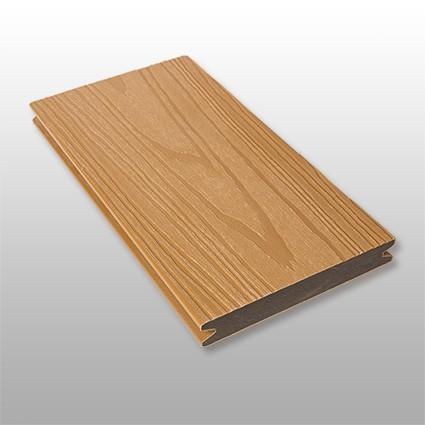 WPC Terrassendielen Deserto, ummantelt, massiv, Premium, Oberfläche mit Struktur in Holzoptik, Farbton hellbraun, Vollprofil, 22 x 143 bis 4800 mm für 10,40 €/lfm
