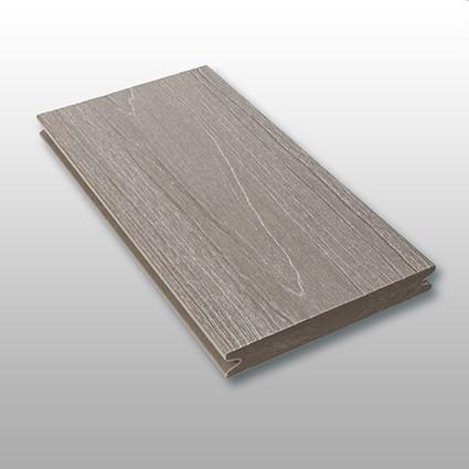 WPC Terrassendielen Tessera, massiv, ummantelt, Premium, Oberfläche mit Struktur in Holzoptik, Farbton grau, Vollprofil, 22 x 143 bis 4800 mm für 10,40 €/lfm