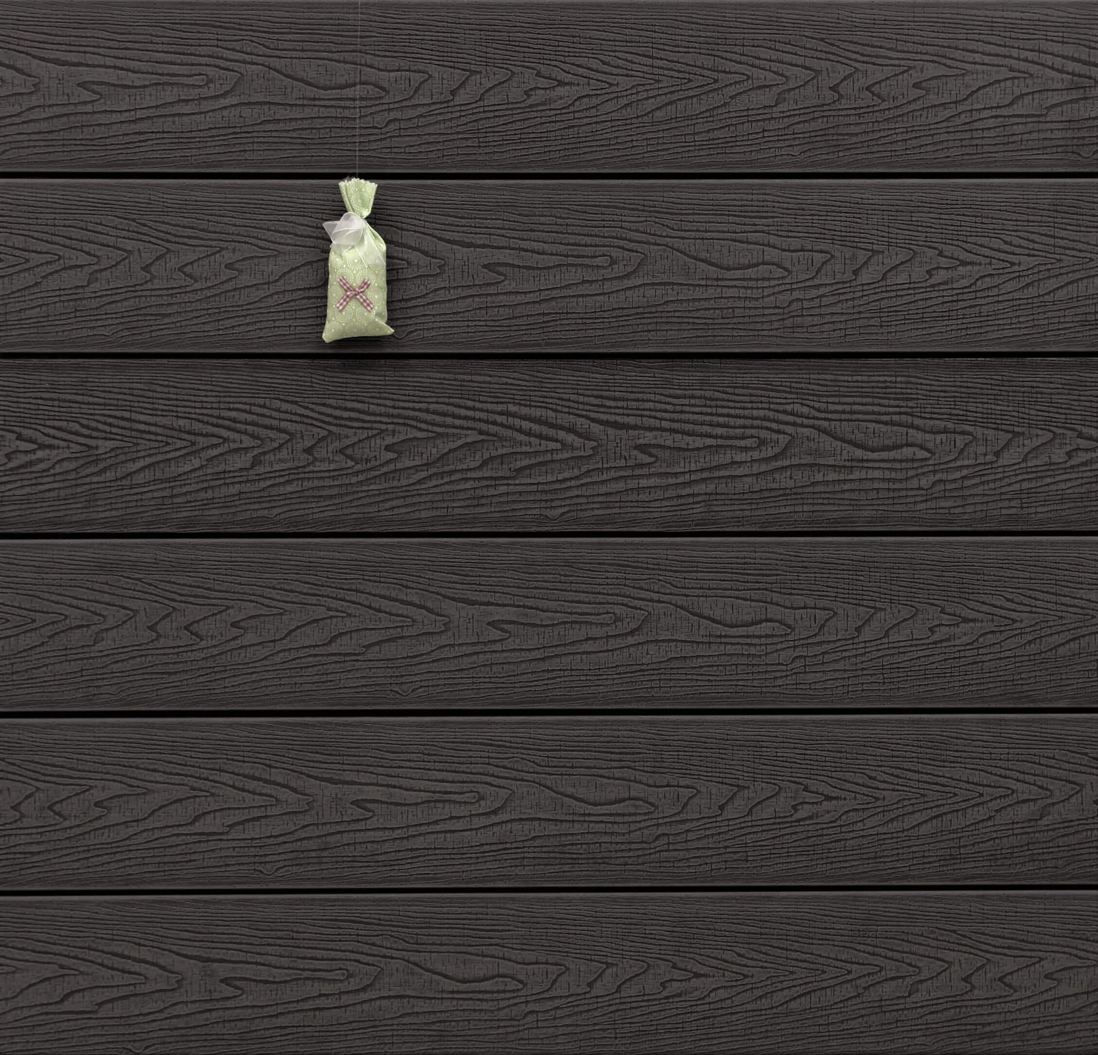 WPC Terrassendielen massiv, Oberfläche mit Struktur in Holzoptik sägerau, Farbton dunkelgrau, Vollprofil, 22 x 143 bis 4800 mm für 9,20 €/lfm
