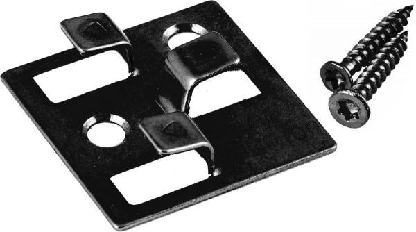 100 WPC Montage Clips mit 4 mm Fuge aus Edelstahl von Gunreben, schwarz, inkl. Schrauben, Montagematerial reicht für ca. 35 lfm bzw. 5 m²