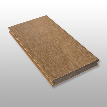 WPC Terrassendielen Terra, ummantelt, massiv, Premium, Oberfläche gebürstet, Farbton dunkelbraun, Vollprofil, 22 x 143 bis 4800 mm für 10,40 €/lfm