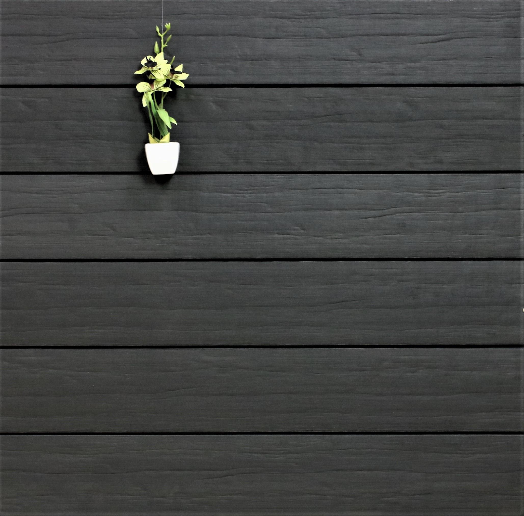 WPC Terrassendielen massiv, Oberfläche antik gealtert, Farbton anthrazit, Vollprofil, 22 x 143 bis 4800 mm für 9,95 €/lfm