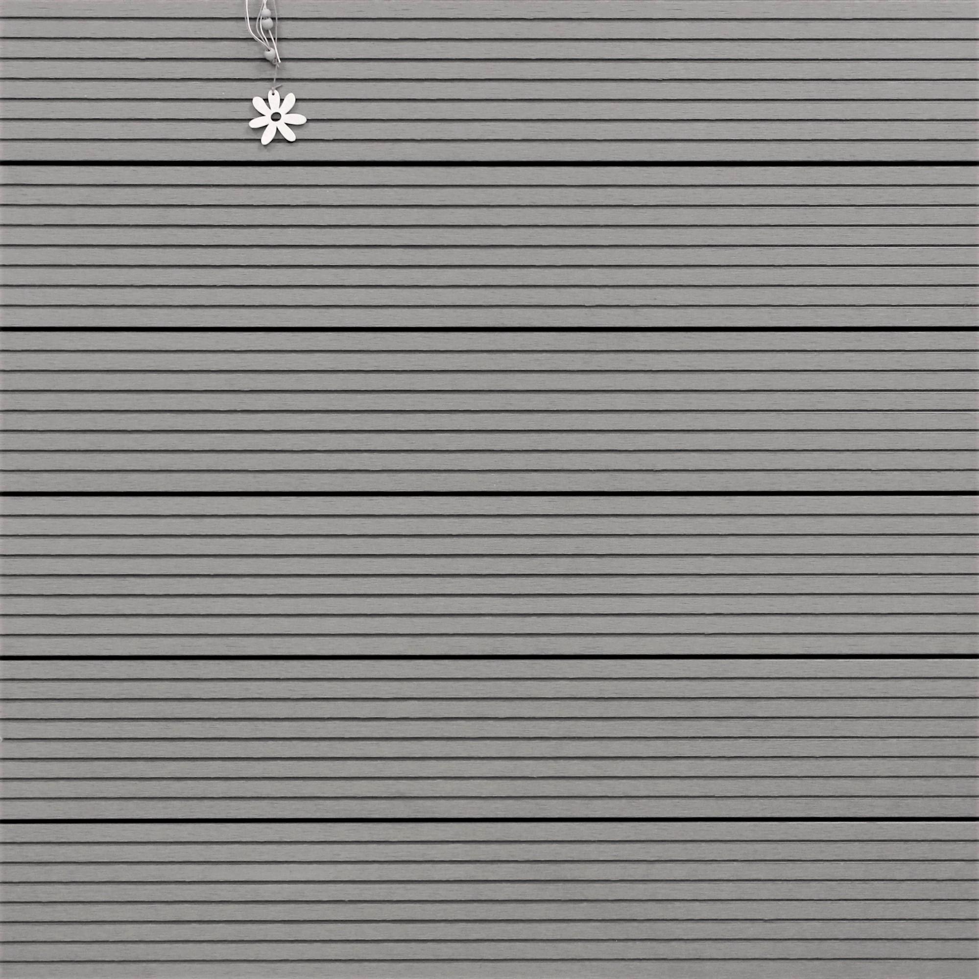 WPC Terrassendielen massiv, Oberfläche grob genutet, Farbton hellgrau, 22 x 143 bis 4800 mm für 8,95 €/lfm