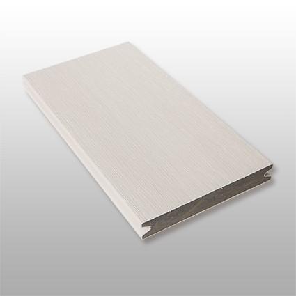 WPC Terrassendielen Artide, massiv, ummantelt, Premium, Oberfläche gebürstet, Farbton hellgrau, Vollprofil, 22 x 143 bis 4800 mm für 10,40 €/lfm